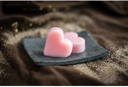 Guest soap heart - ROSE
