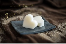 Guest soap heart - ZINNIA & WHITE CEDAR