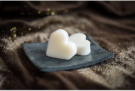 Guest soap heart - ZINNIA & WHITE CEDAR