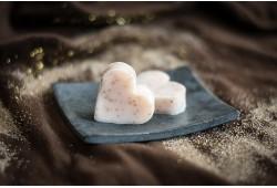Guest soap heart - APRICOT